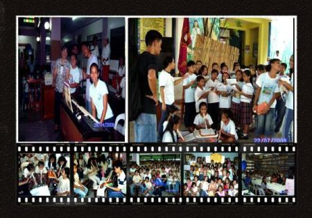 mga bata at kasamahan sa music ministry