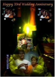 kuha nila nanay at tatay ko nang magdiwang sila ng kanilang anibersaryo nung disyembre 31,2008