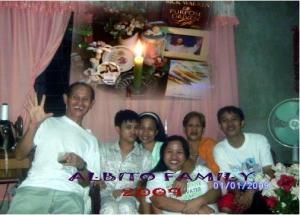 ALBITO FAMILY- tatay, lester, len, lizel, nanay at louie