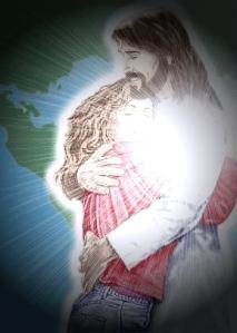 jesus hug me